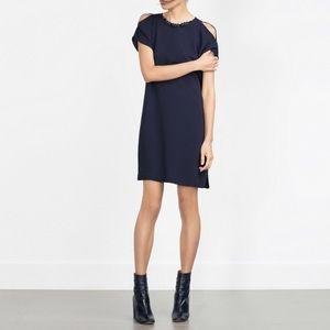 ZARA Beaded And Embellished Dress